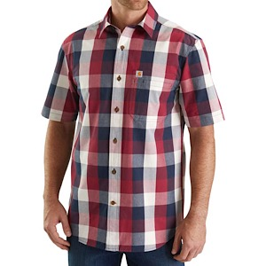 CARHARTT 103551 M Essential Plaid Open Collar SS Shirt