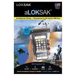 "ALOKSAK 4"" x 7"" Waterproof Storage Bags 2/pk"