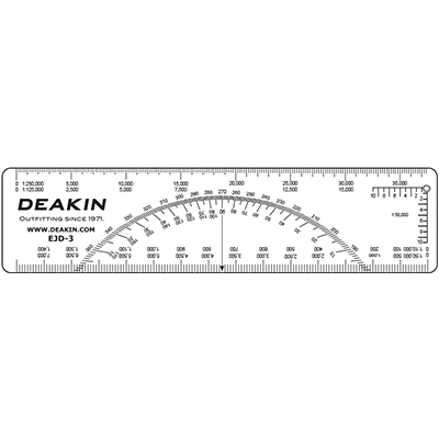 "DEAKIN 6"" C-Thru EJD Protractor Scale"