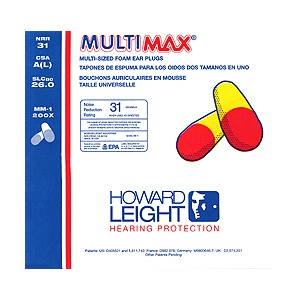 HOWARD LEIGHT MultiMax Foam Ear Plugs (Box)