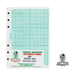"DUKSBAK Waterproof Field Sheets 4 1/2"" x 7"" /pk"