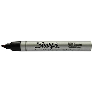 SHARPIE Liquid Tip Permanent Black Marker - Chisel Tip
