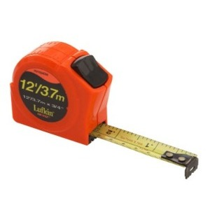 LUFKIN PHV1034DMN Hi-Viz 12' / 3.7m Measuring Tape (1/10's ft.)