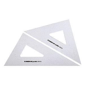 "STAEDTLER 964 08-60 Set Square Clear 8"" 30/60"