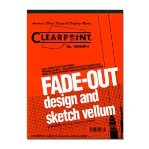 "Vellum CLEARPRINT 1000HP (1mm GRIDDED) 8.5x11"" 50/Pad"