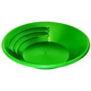 "KEENE SP14 14"" Green Plastic Gold Pan"