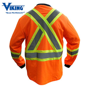 VIKING 6015 CSA Safety CottonLined Shirt