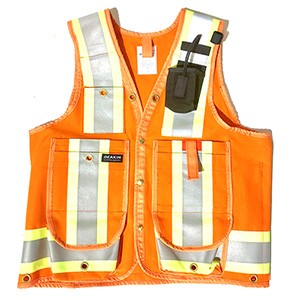 "DEAKIN Cotton 4"" Reflective Cruiser Vest c/w Radio Holster"