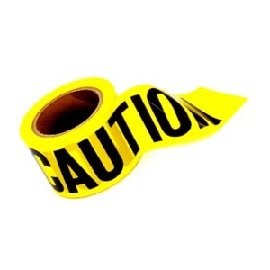 "STONEBLAZE CAUTION Flagging Tape 3"" x 1000' Yellow"
