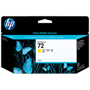 HP 72 130ml Yellow Ink Cartridge C9373A